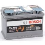 BOSCH S5A08 AGM 70Ah 760A 278x175x190 - /+