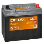 DETA POWER 45Ah/330A 234x127x220 -/+