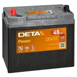 DETA POWER DB455L 45Ah/330A  234x127x220 -/+