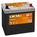 DETA POWER DB604 12V/60Ah/390A 230x172x220 -/+