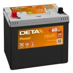 DETA POWER DB605L 12V/60Ah/390A AKU 230x172x220 +/-