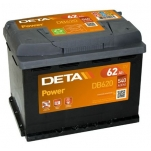 DETA POWER DB620 12V/62Ah/540A 242x175x190 -/+