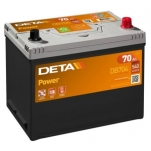 DETA POWER DB704 12V/70Ah/540A AKU 266x172x223 -/+