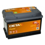 DETA POWER DB712 12V/71Ah/670A AKU 278x175x175 -/+