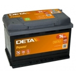 DETA POWER DB741L 12V/74Ah/680A AKU 278x175x190 +/-