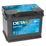 DETA AGM DK600 60Ah 680A 242x175x190 -/+