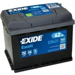 Excell EB621 62Ah 540A 242x175x190 +/-