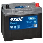 Excell EB454 45Ah 300A 234x127x220 -/+
