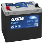 Excell EB605 60Ah 390A 230x172x220 +-