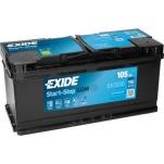 EXIDE AGM 105Ah 950A 392x175x190 -+
