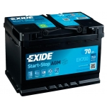 EXIDE  AGM EK700 70Ah 760A 278x175x190 -/+