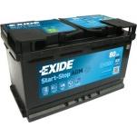 EXIDE  AGM EK800 80Ah 800A 315x175x190 -/+
