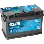 EXIDE EL652 ECM EFB 65Ah 650A 278x175x175 -/+