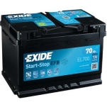 EXIDE EL700 ECM EFB 70Ah 720A 278x175x190 -/+
