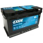 EXIDE EL800 ECM EFB 80Ah 720A 315x175x190 -/+