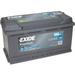 EXIDE Premium 100Ah 900A 353x175x190 -+
