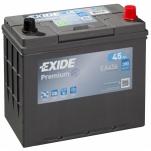 EXIDE Premium 45Ah 390A 237x127x227 -+