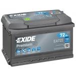 EXIDE Premium EA722 72Ah 720A 278x175x175 -/+