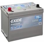 EXIDE Premium EA755 75Ah 630A 270x173x222 +/-