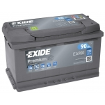 EXIDE Premium 90Ah 720A 315x175x190 -+