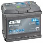EXIDE Premium 47Ah 450A 207x175x175 -+