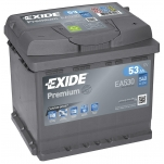 EXIDE Premium 53Ah 540A  207x175x190 -+