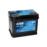 EXIDE AGM EK600 60Ah 680A 242x175x190 -/+