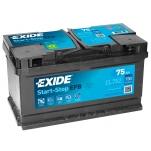 EXIDE EL752 ECM EFB 75Ah 730A 315x175x175 -+