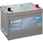 EXIDE Premium 75Ah 630A 270x173x222 -+