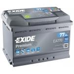 EXIDE Premium EA770 77Ah 760A 278x175x190 -/+