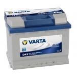 VARTA D43 60Ah 540A 242x175x190 +/-