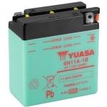 YUASA YU-6N11A-1B 6V/11Ah 122x62x131 -/+