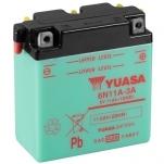 YUASA YU-6N11A-3A 6V/11 Ah 122x62x131 -/+
