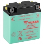 YUASA YU-6N11A-4 6V/11.6Ah 122x62x131 +/-